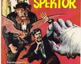 Horror comic: Doctor Spektor 9, Mummy book, Frankenstein, Vampire, The Occult Files, Scary Monster, Universal art. 1974 Gold Key in NM- (9.2