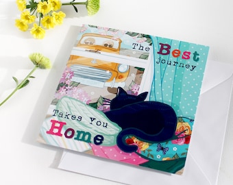 Greetings Card - The Best Journey Takes You Home