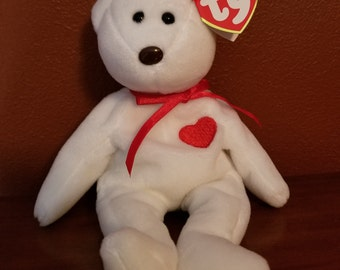 Rare Retired 1993 Valentino Ty Beanie Baby, 19 errors/P.V.C., Mint Condition