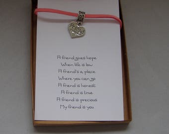 Friend Special Friend Gift Bracelet and Card
