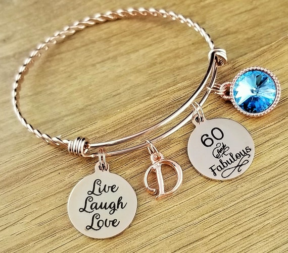 Rose Gold 60 Birthday Gifts 60th Birthday Gift Birthday Gift Birthday Gifts for Her Birthday Gift for Friend Birthday Gifts 60 and Fabulous