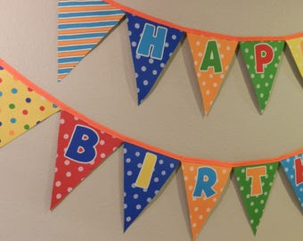 Birthday Bunting Primary Colors