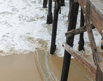 5 x 7 matted photograph of Seal Beach Pier, California, ocean