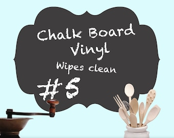 Craftroom Wall Decal Chalkboard - Vinyl Chalkboard Curvy Shape 05 - Craft Room Decal
