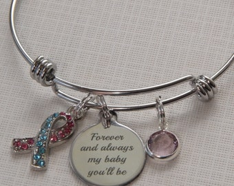 Infant Loss Bracelet, Miscarriage bracelet, Sympathy gift, Baby Memorial bracelet, Miscarriage bracelet, Baby Loss Bracelet, forever my baby
