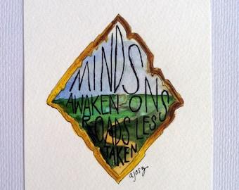 Minds Awaken Watercolor