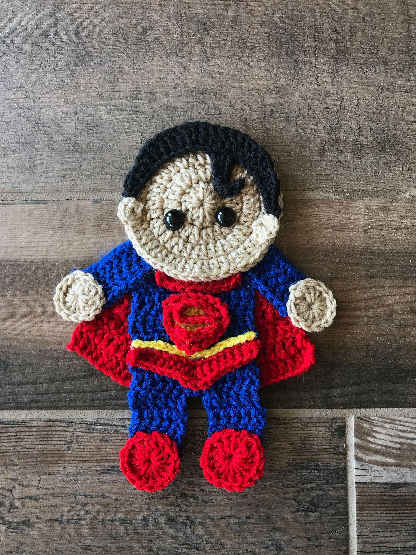 Crochet Pattern - INSTANT PDF DOWNLOAD - Superman - Crochet Superman ...