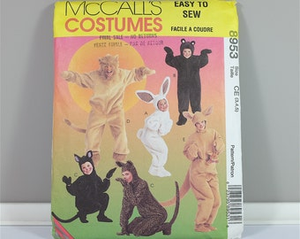 Kids Halloween costume: Bunny bear cat lion kangaroo - McCall's Costumes sewing pattern, Size 3 4 5, McCalls 8953  UNCUT - Simplicity 7816