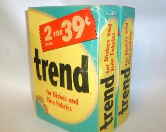 2 Vintage 1950's Purex TREND Laundry Soap Detergent 12 oz Boxes ~ Unopened