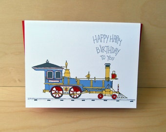 Train Birthday Card - Choo choo train card