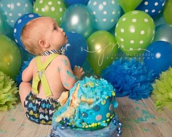 Suspender Birthday Cake Lil Man