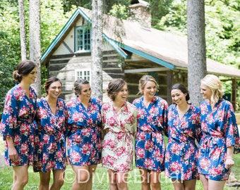 Set of 7 Bridesmaid Robes, Bridesmaids Gift, Robes for Bridesmaids, Gift for Bridesmaids, Getting Ready Robes, Bridal Party Robes