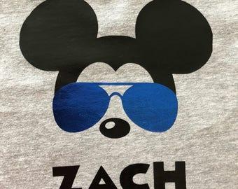 Mickey Mouse- Kids Shirt- Adult Shirt- Mickey Aviators- Kids Disney- Family Shirts- Disney Boy