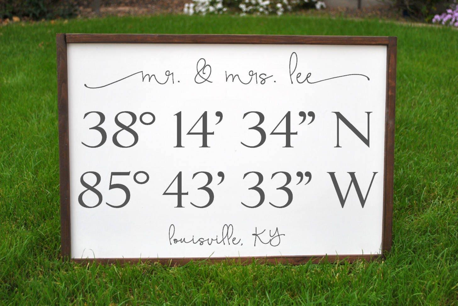 Hochzeit Koordinaten Zeichen benutzerdefinierte Koordinaten