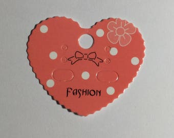 25 Earring Display Cards Heart