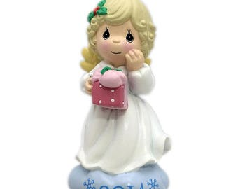 Precious Moments 2014 Holiday Ornament Dated Christmas Tree Ornament Red Holiday Sweater NIB