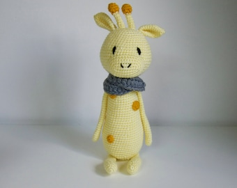 Giraffe crochet pattern Mr Luiwood
