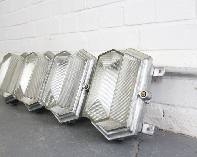 Art Deco Industrial Bulkhead Lights By Maxlume Circa 1930s