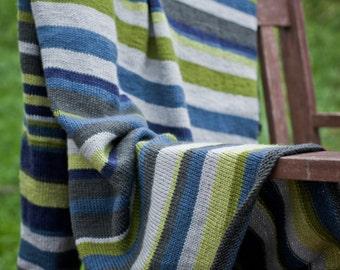 PDF Baby Knitting Pattern -Striped Blanket
