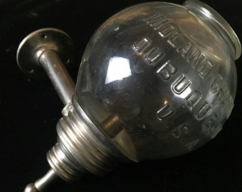 1920s Midland Chemical Company embossed glass soap dispenser.SALE
