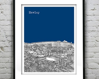 Hawley Skyline Poster Art Print Pennsylvania PA