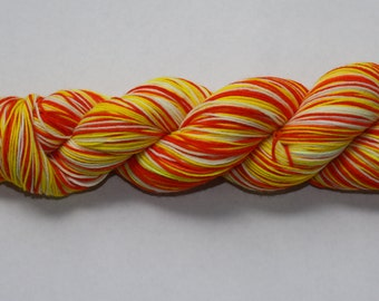 Candy Corn Hand Dyed Self-Striping Sock Yarn
