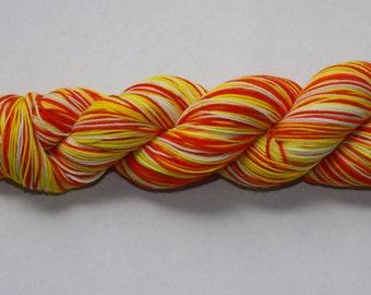 Candy Corn Hand Dyed Self-Striping Sock Yarn
