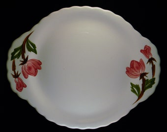 American Beauty Serving Plate from Canonsburg Pottery