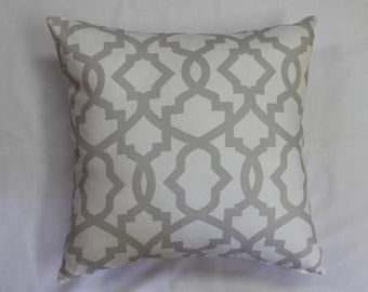 18 x 18 French Grey Sheffield Pillow Cover