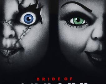 Bride Of Chucky Cult Vintage Horror Film Movie Poster Print 1998 A3 A4