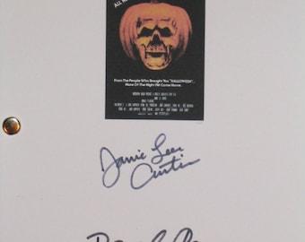 Halloween II 2 Signed Film Movie Script Screenplay Jamie Lee Curtis Donald Pleasence Horror Classic Film