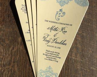 Indian Wedding Ceremony Fan Program - Hindu Wedding Fan Program - Ganesh Program