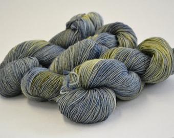 Hand dyed yarn pick your base - Moon Glow - sw merino cashmere nylon fingering dk worsted