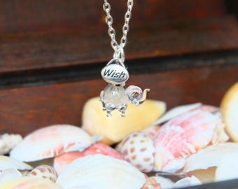 Elephant party favor, Party favor necklace, Elephant necklace, Elephant charm necklace, Baby elephant jewelry, Lucky elephant charm, Summer.