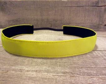 Neon Yellow Nonslip Headband, Noslip Headband, Neon Headband, Workout Headband, Sports Headband, Running Headband, Athletic Headband