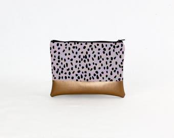 MIDI bag - confetti copper, bag, cosmetic bag, purse, make-up bag, vegan, minimalist, pouch, pencil case,