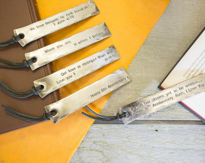 'Punched Leather' Iron Bookmark Gift