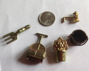 Miniature metal Garden tools