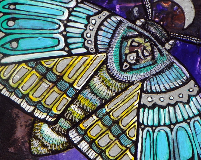 Original Moth / Insect Art Painting by Lynnette Shelley