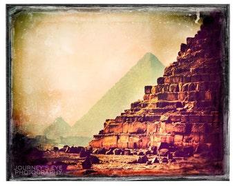 Egypt picture, Egypt photograph, retro photography, pyramid, wall art, archaeology, home decor, travel print