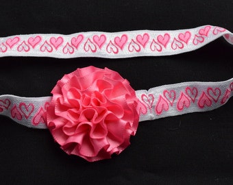 Pink Hearts Around   Dainty Headband