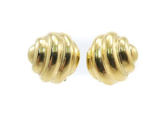 Vintage Alfred Sung Earrings, Clip Ons, Signed