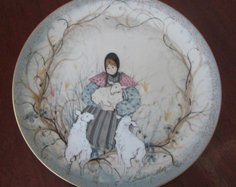 P. Buckley Moss Autographed Mary With The Lambs Plate 1290