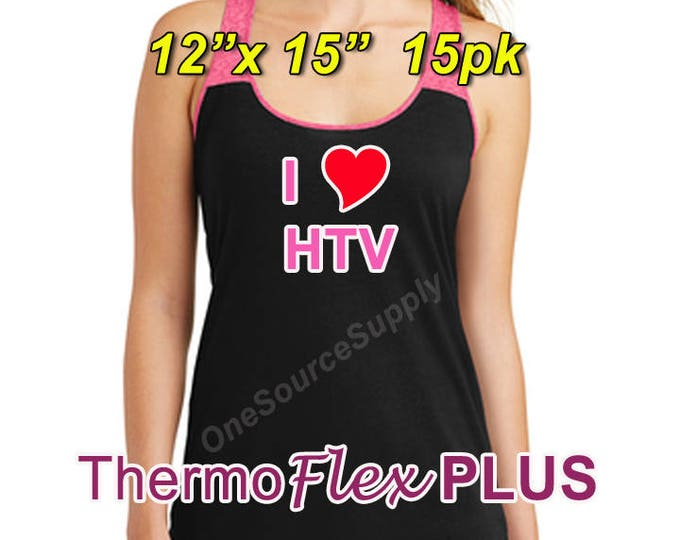 "12""x 15"" / 15-sheet / ThermoFlex Plus - Heat Transfer Vinyl - HTV"