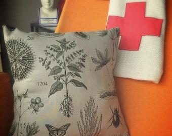 Botany and Bugs Cushion Cover