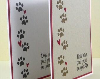 Dog Sympathy Card, Pet Sympathy Card, Handmade Dog Sympathy, Loss of Dog Card, Pet Loss