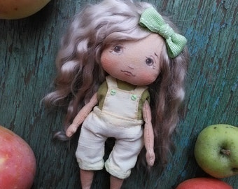 Cloth Art Textile doll Сollecting OOAK Interior toy Gift idea for girl