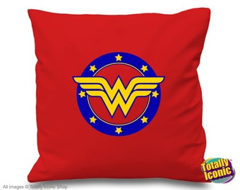 Wonder Woman Retro - Pillow Cushion Cover - Comic Book Hero Inspired-Diana Princess of the Amazons-Lynda Carter-TV & Film