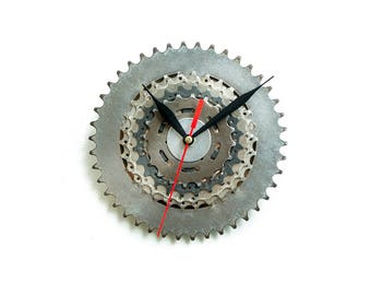 Unique Bike Wall Clock, Industrial Wall Clock, Steampunk Wall Clock, Unique Wall Clock, Large Wall Clock, Bicycle Clock, Industrial Decor