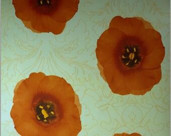 Flower Orange color Contact Paper (2400-2)